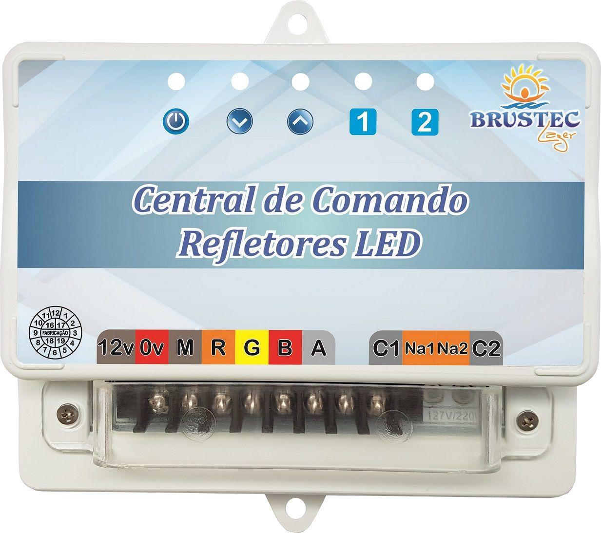 Central de Comando RGB Luxo Rítmica com Auxiliar Brustec