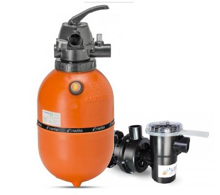 Filtro e bomba Nautilus 1/3cv para Piscina até 29.000L