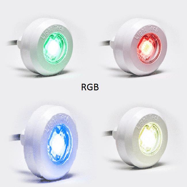 Kit 04 Refletores LED RGB 4,5w ABS Com Central Rítmica Para Piscinas de Até 40m² Light Tech