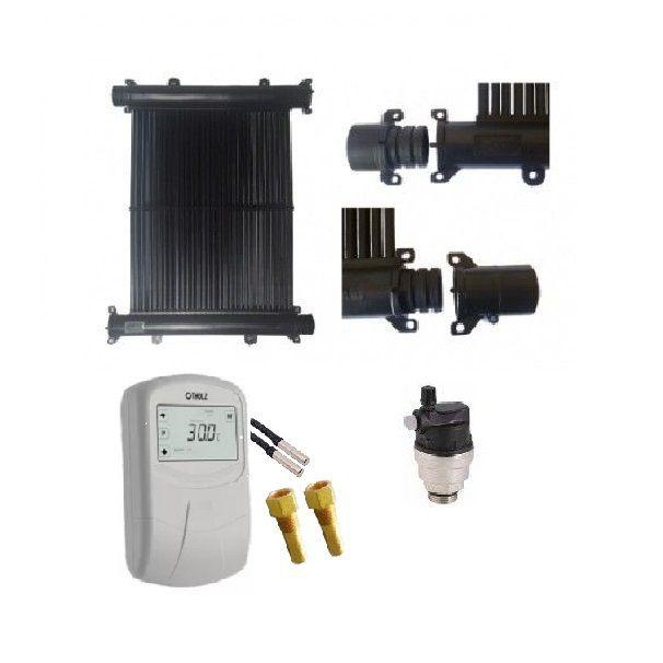Kit Aquecedor Solar Piscina 15m² TekSol, Controlador 220V