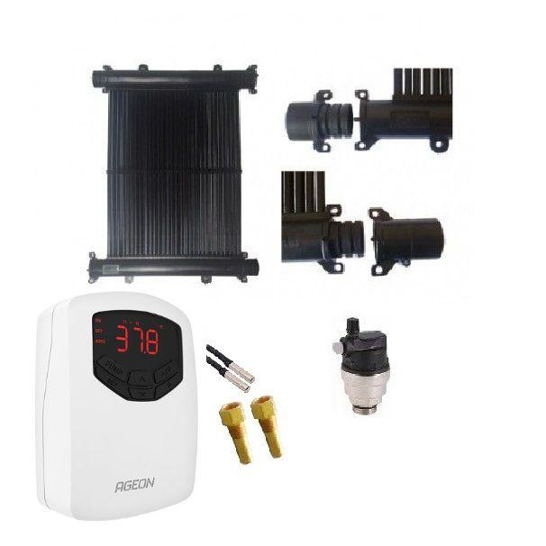 Kit Aquecedor Solar Piscina 18m² TekSol, Controlador Temperatura Bivolt