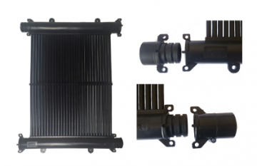 Kit Aquecedor Solar Piscina 10m² TekSol Controlador 220V