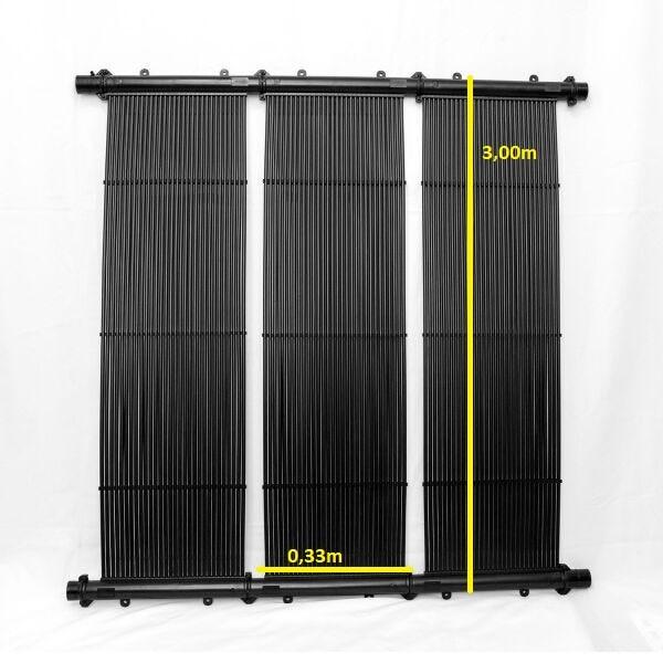 Kit Aquecedor Solar Piscina até 18m² e/ou até 25 mil litros TekSol, Controlador Temperatura Bivolt