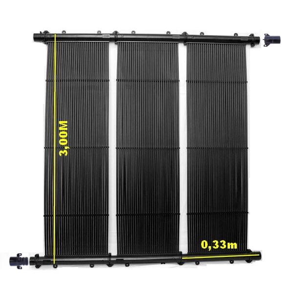 Kit Aquecedor Solar Piscina até 30M² e/ou até 40 MIL LITROS TekSol Controlador Bivolt