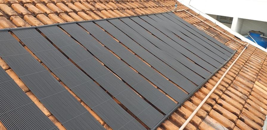 Kit Aquecedor Solar Piscina até 50M² e/ou até 70 mil litros TekSol Controlador Bivolt
