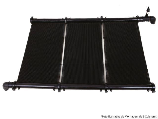 Kit Aquecimento Solar para Piscina 10m² Ks Aquec. Controlador 220V