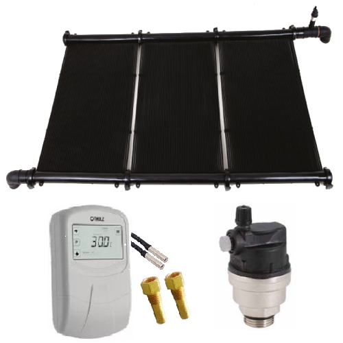 Kit Aquecimento Solar Piscina Até 15m² KS Aquec. Controlador 220V