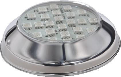 Kit Iluminação 2 Refletores 5W RGB  Inox e Central Sonora - Brustec