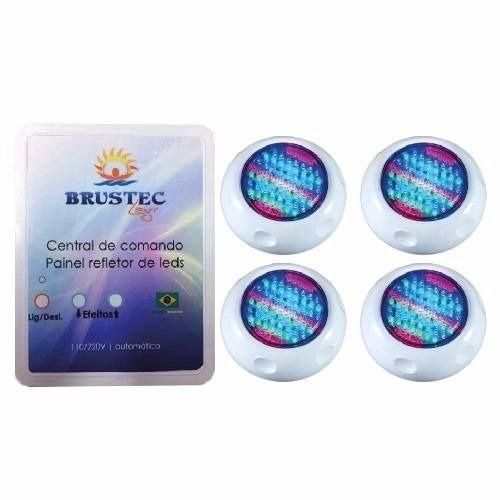 Kit Iluminação 4 Refletores 70 Pontos e Central RGB 3A - Brustec