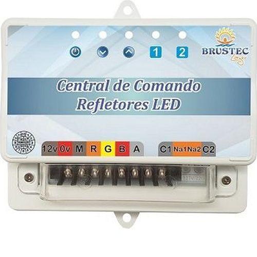 Kit Iluminação 4 Refletores e Central Sonora - Brustec