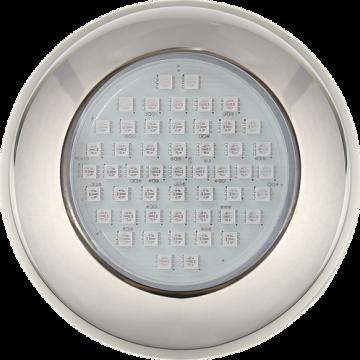 Kit Iluminação 5 Refletores 9W RGB Inox e Central Sonora - Brustec