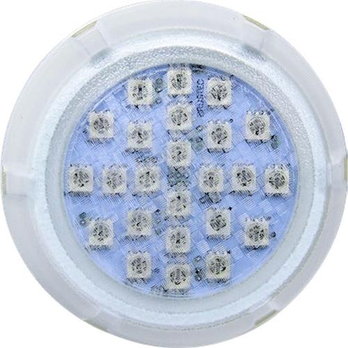 Kit Iluminação até 48m² com 4 Refletores Brustec RGB 5W Policarbonato e Central Touch