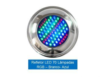 Refletor LED 70 pontos RGB Inox Brustec