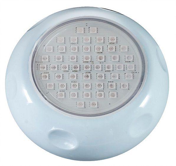 Refletor Power LED 9w Azul/branco ABS Brustec