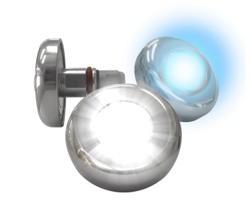 Refletor Power LED Azul 9,0w Inox Tholz