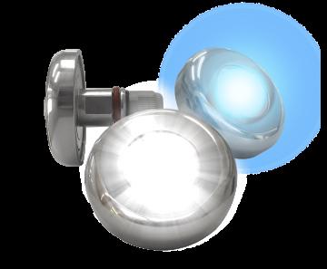 Refletor Power LED Branco 9,0w Inox Tholz
