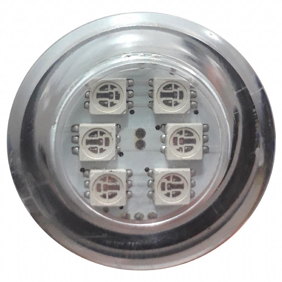 Refletor Power Led RGB 1W Inox para Banheira - Brustec