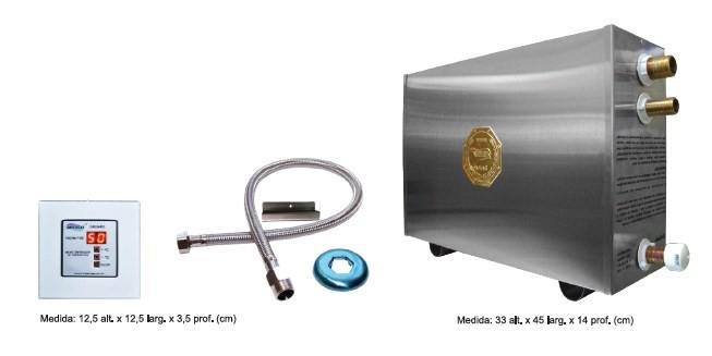 Sauna em Aço Inox - Gerador de Vapor 6Kw