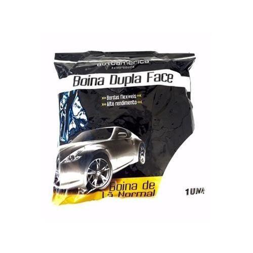 "BOINA LA 8"" NORMAL DUPLA FACE BRANCA AUTOAMERICA"
