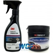 Kit 3m Clay Bar 200g e Lubrificante Limpeza Final 500ml