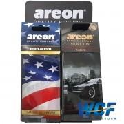Kit Areon 48 folhas com 4 tipos de cheiro com Expositor