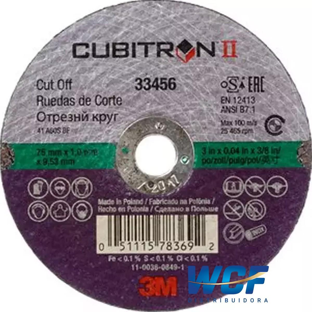 3M DISCO CORTE CUBITRON 75MM