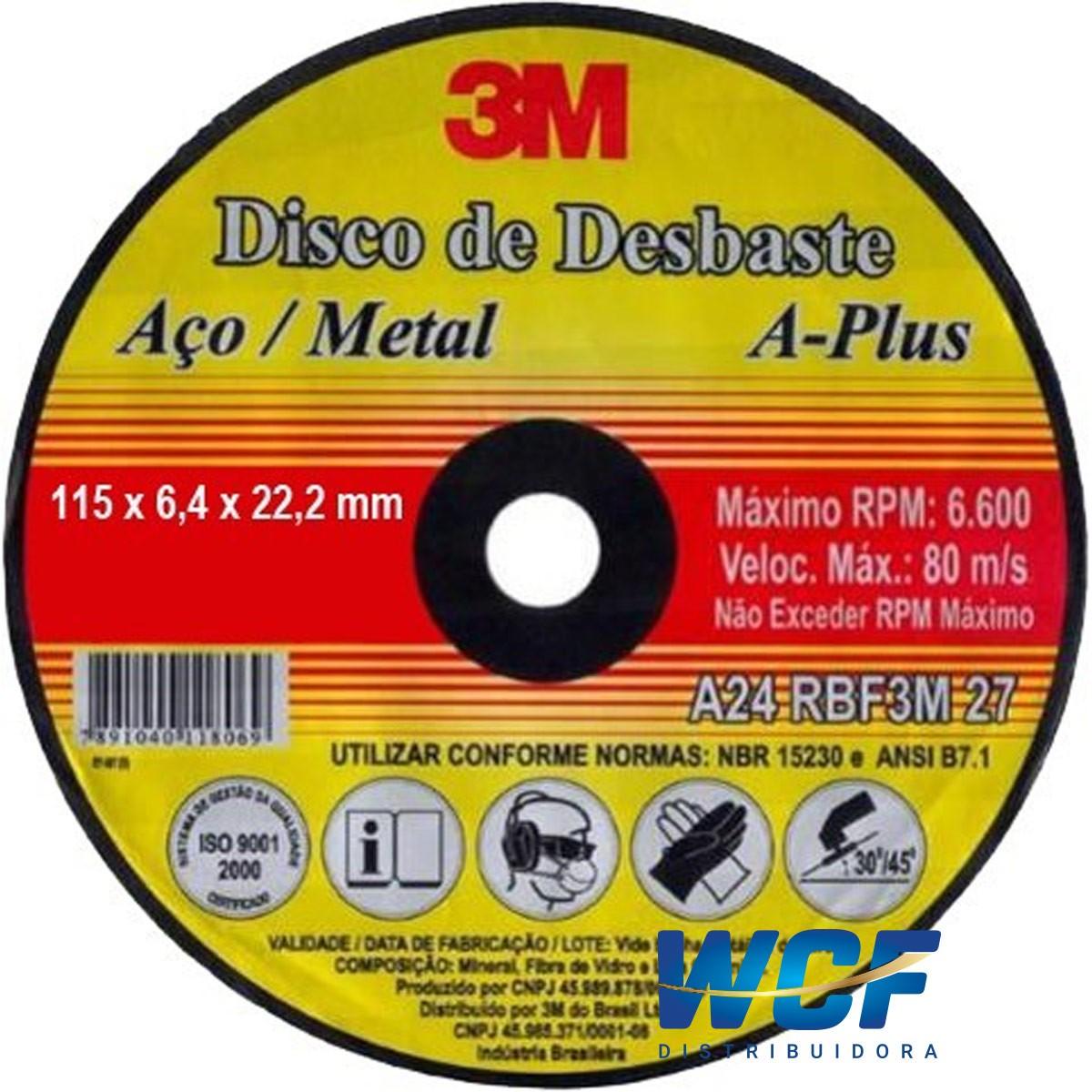 3M DISCO DESBASTE PEDRA