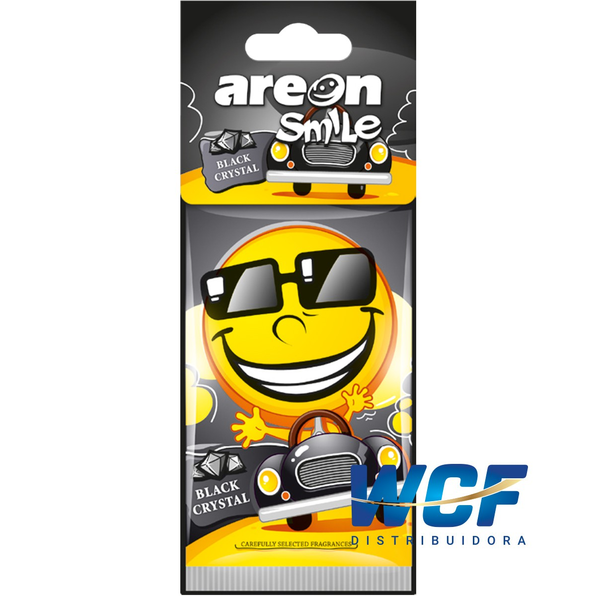 AREON MON SMILE SECO BLACK CRYSTAL (CRISTAL PRETO)
