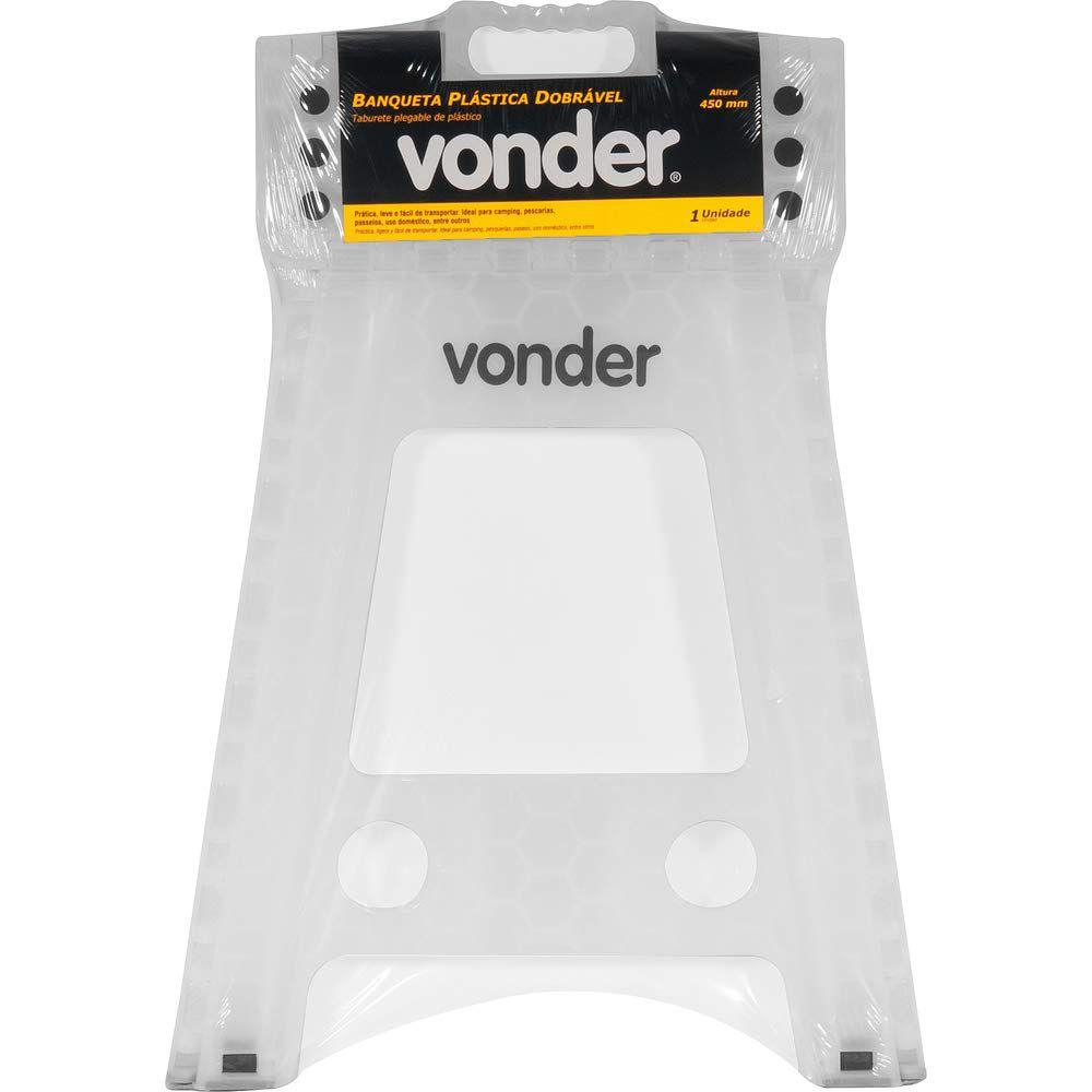 VONDER BANQUETA PLASTICA DOBRAVEL 450 MM