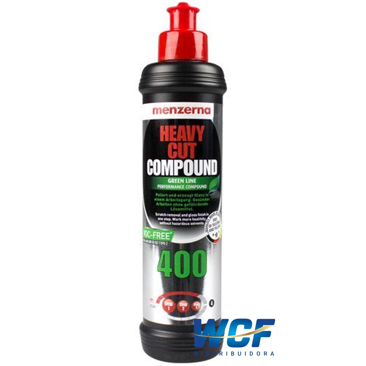 HEAVY CUT COMPOUND GREEN LINE 400 250ML MENZERNA