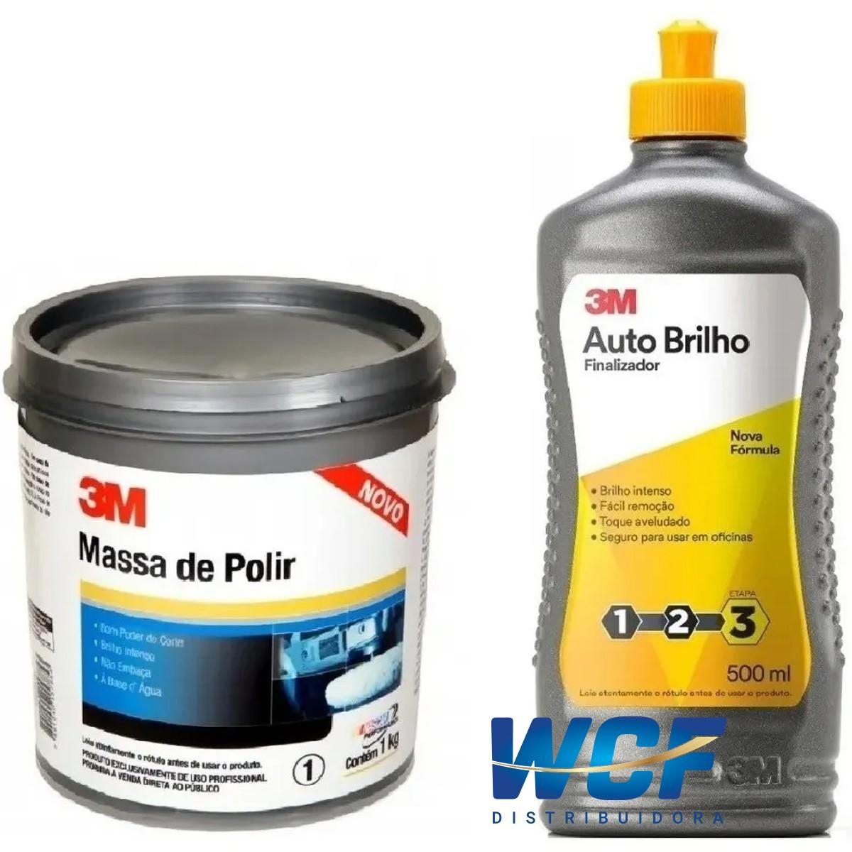 Kit 3m Massa De Polir e 3m Auto Brilho