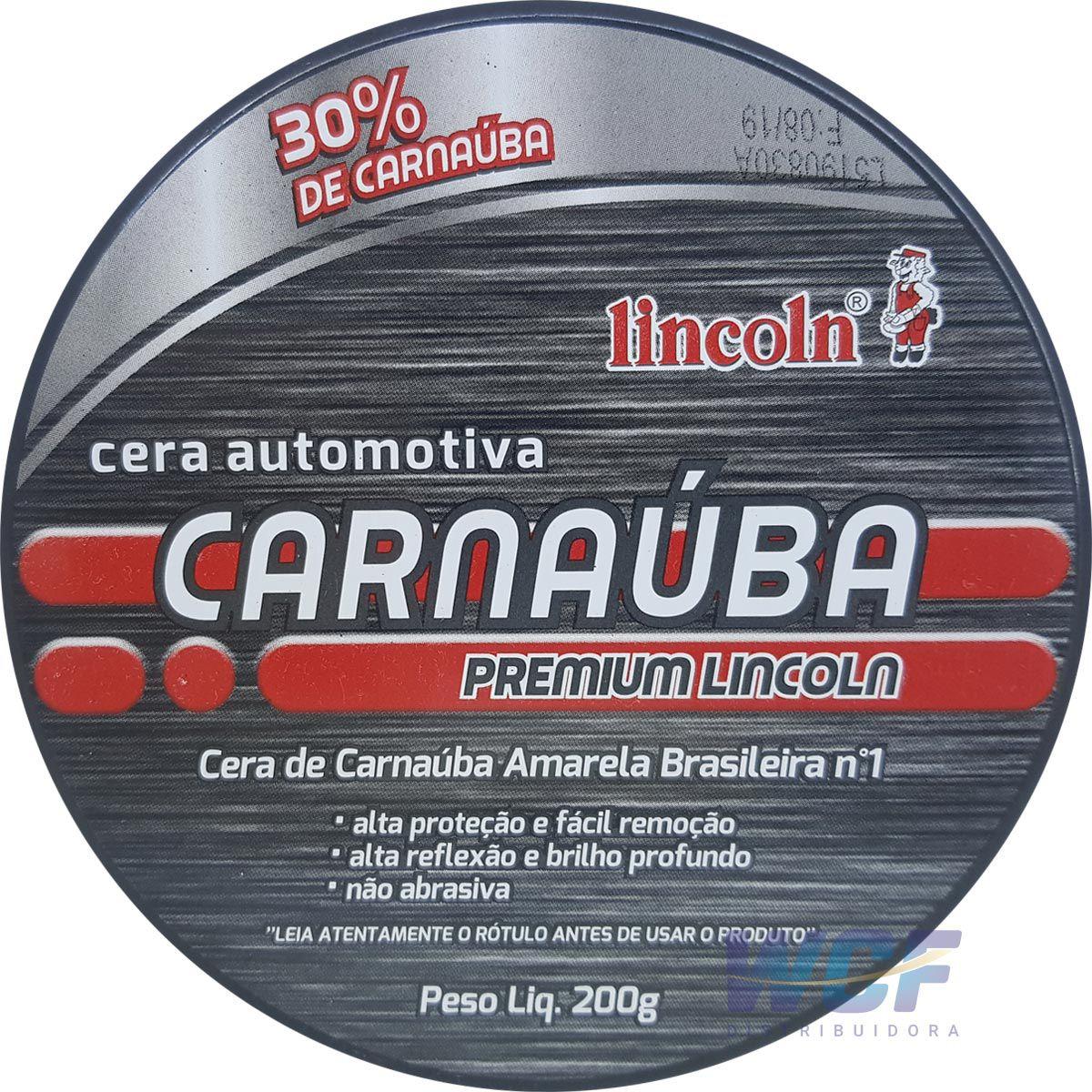 LINCOLN CERA CARNAUBA PREMIUN PASTA 200 GR
