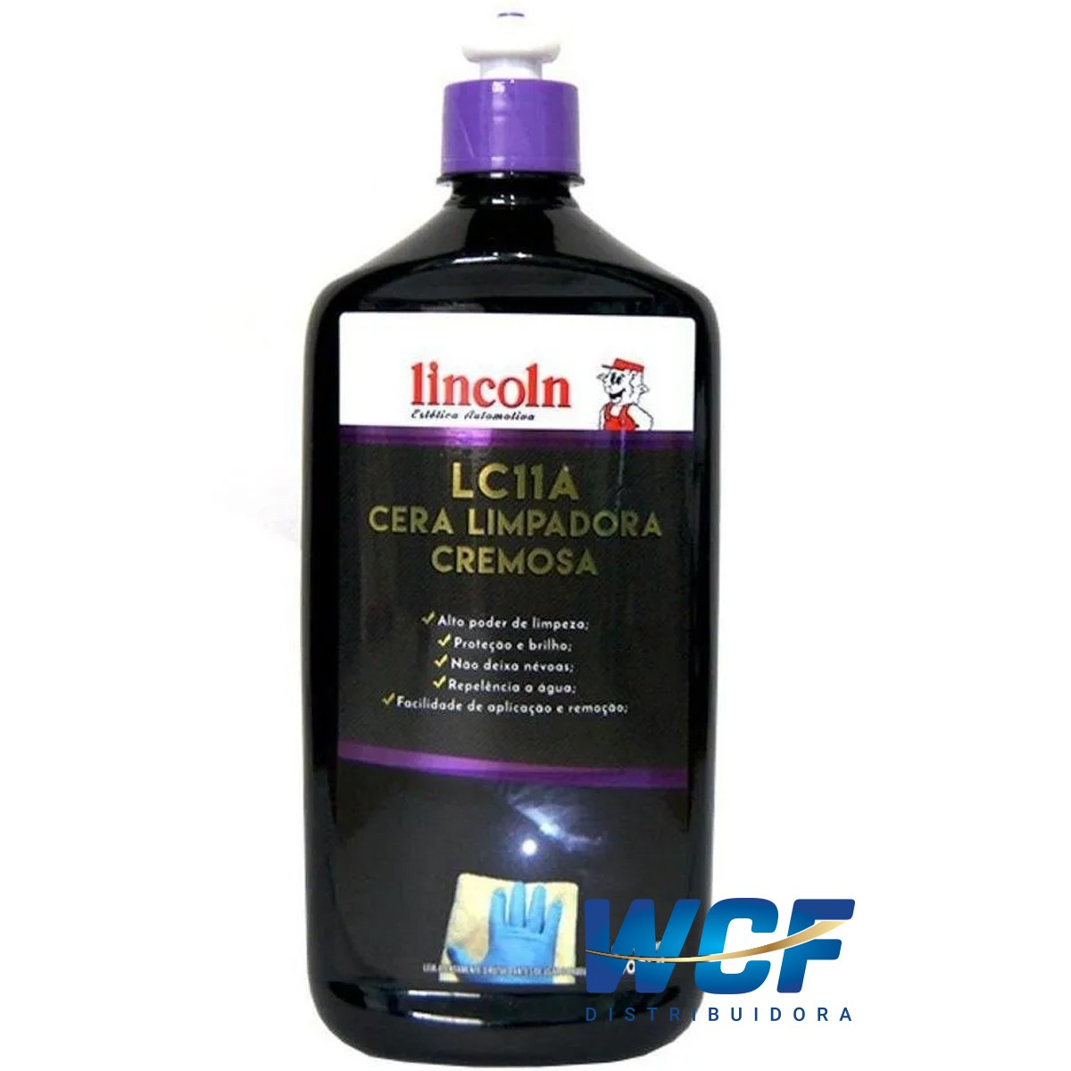 LINCOLN CERA LIMPADORA CREMOSA LIQUIDA  500 ML