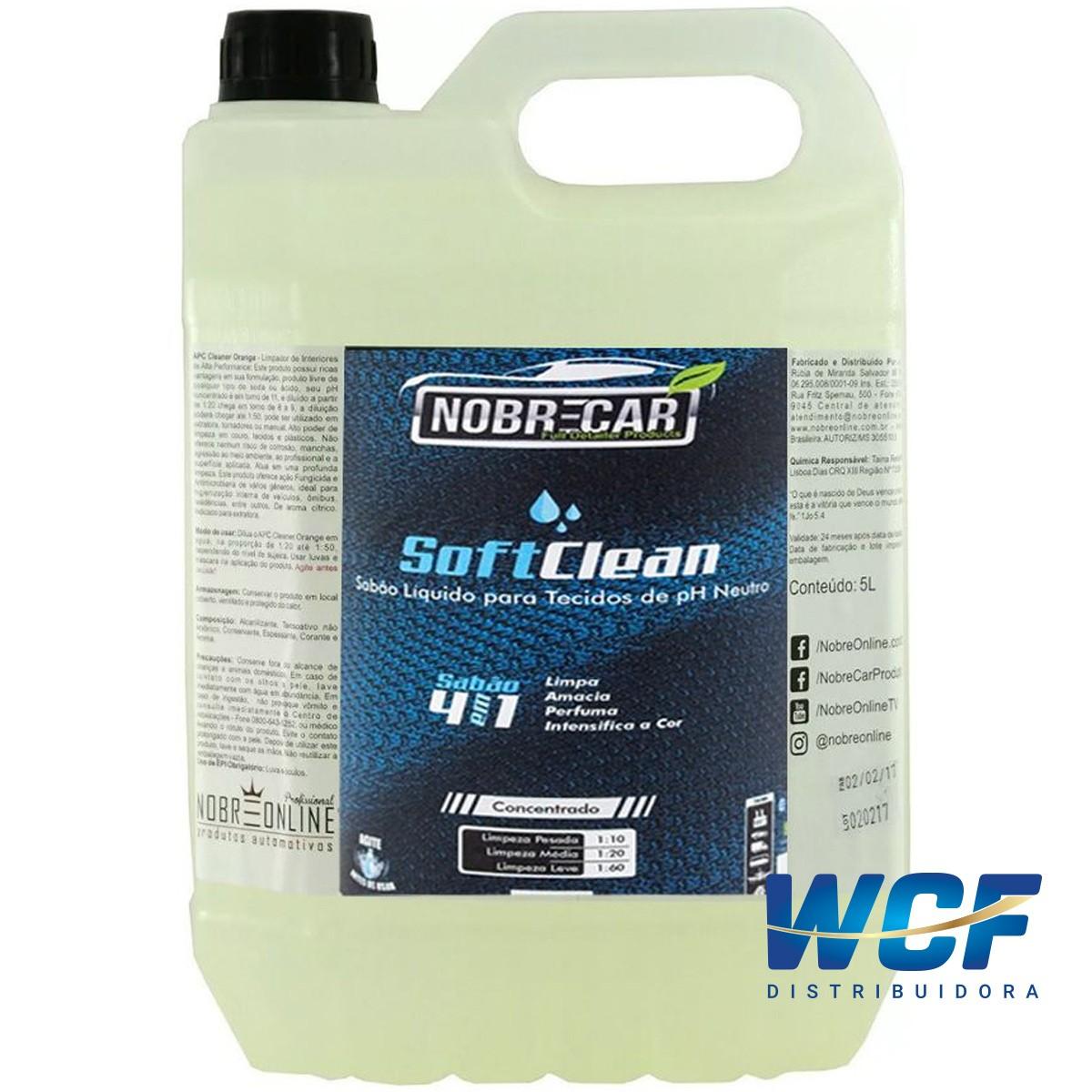 NOBRE SOFT CLEAN LIMPA CONDICIONA TECIDOS GALAO 5 LITROS