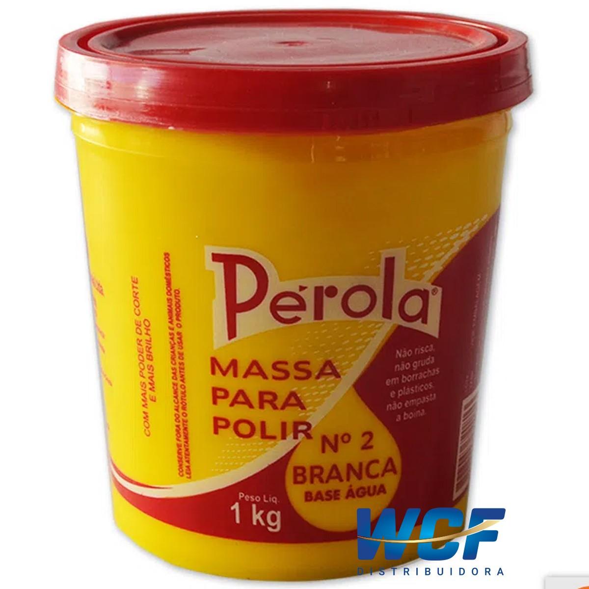 PEROLA MASSA DE POLIR N2 BASE AGUA 1KG
