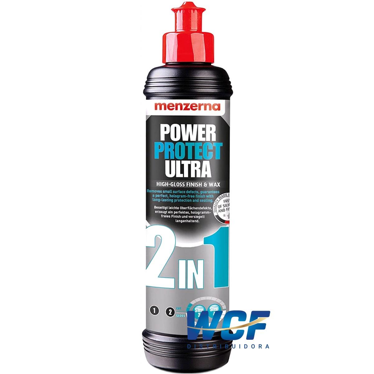 POWER PROTECT ULTRA 2 EM 1 HIGH GLOSS FINISH E WAX 250ML MENZERNA