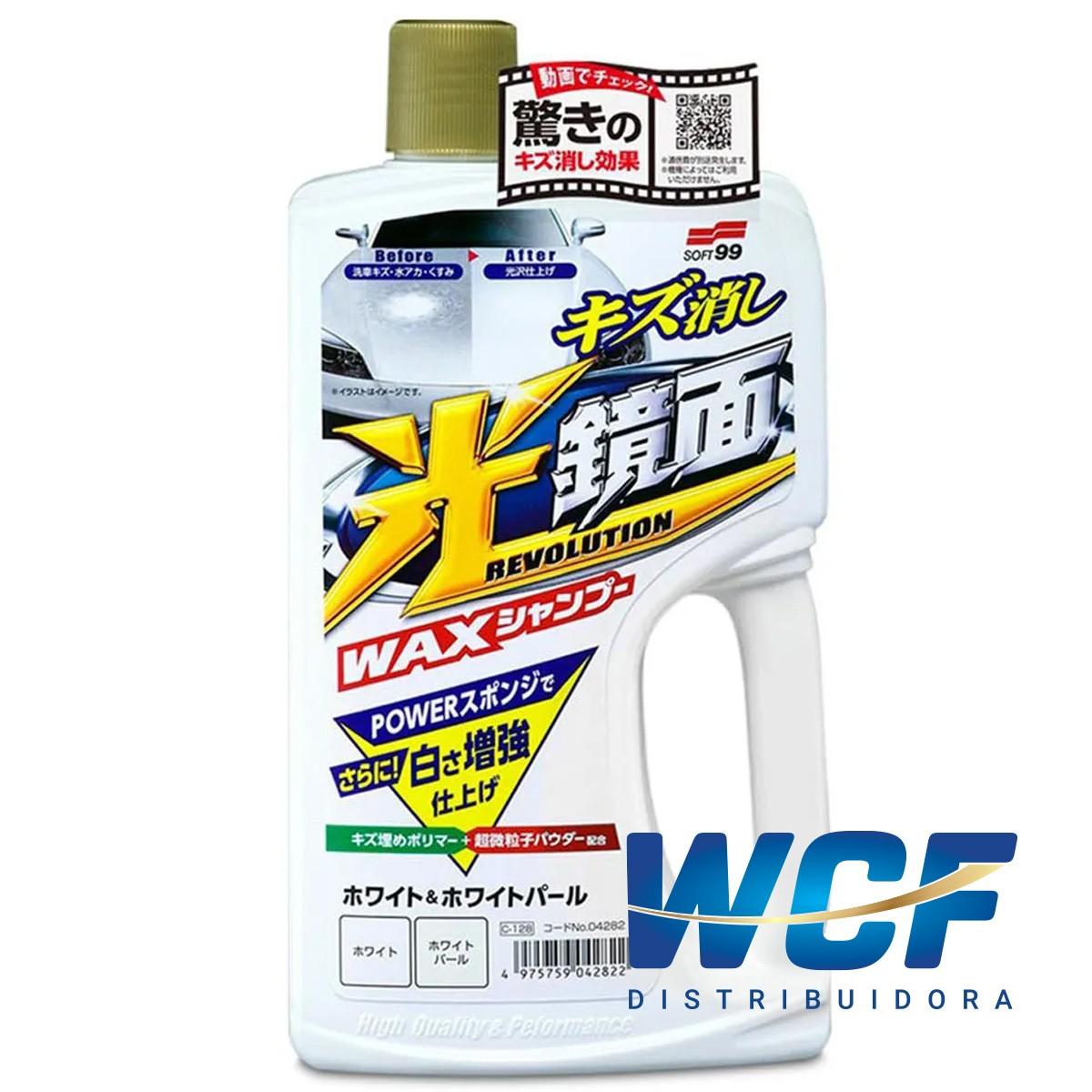 SOFT99 SHAMPOO  WHITE NEW SCRATCH CLEANER MIRROR 700 M L