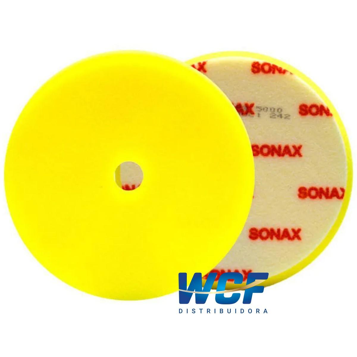 SONAX BOINA DE ESPUMA AMARELA 143 MM C/FURO