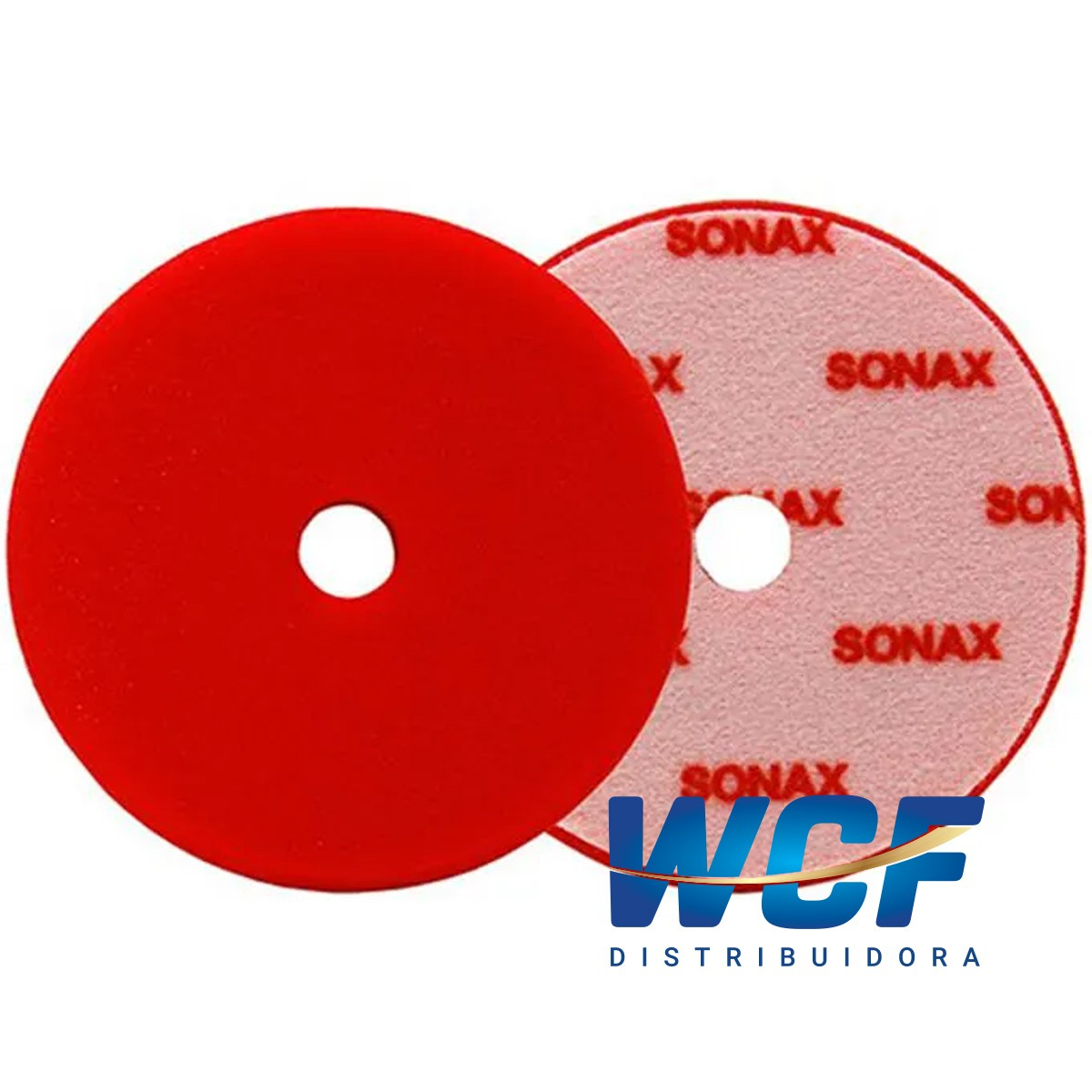 SONAX BOINA DE ESPUMA VERMELHA 143 MM C/FURO