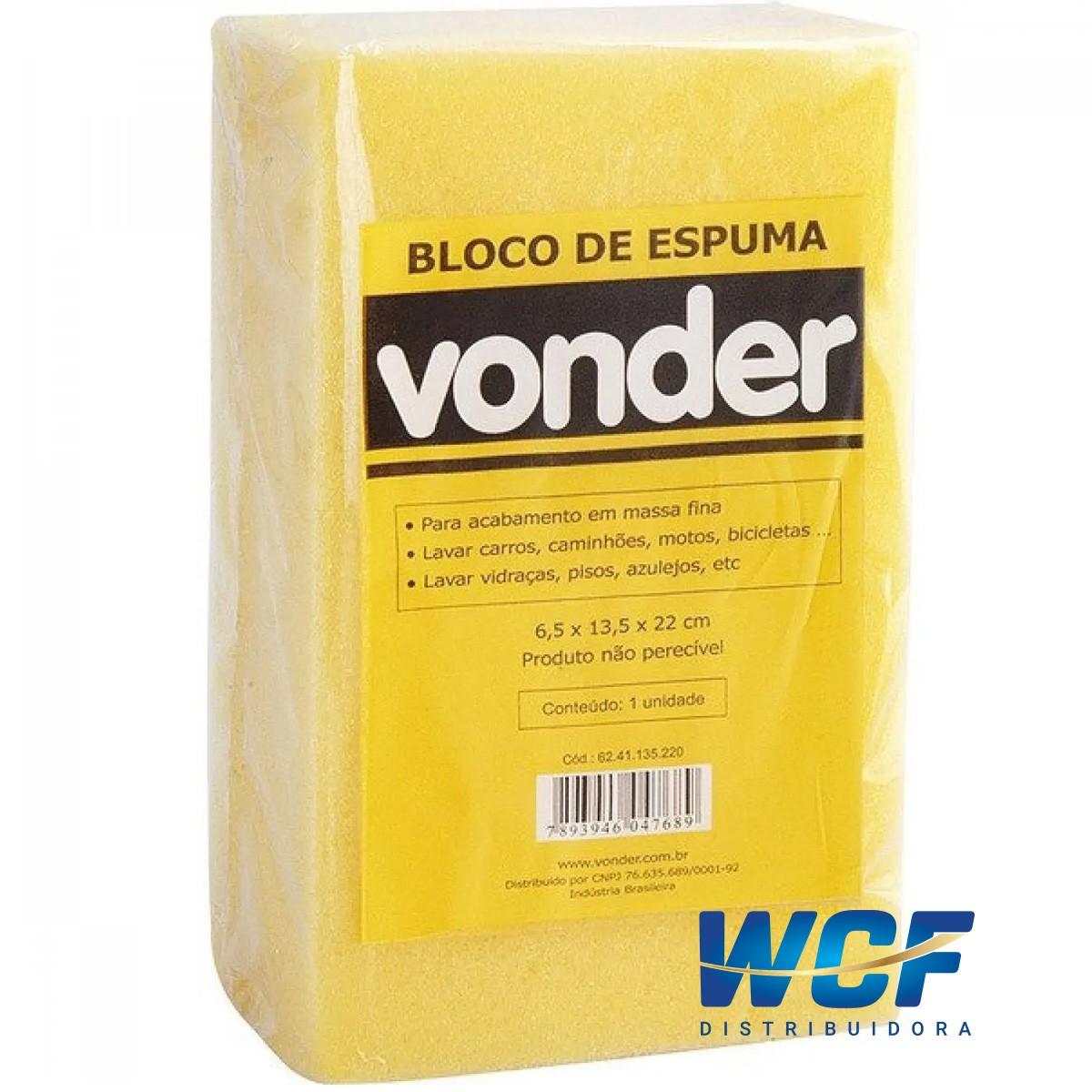 VONDER ESPUMA EM BLOCO 22 X 11 X 6