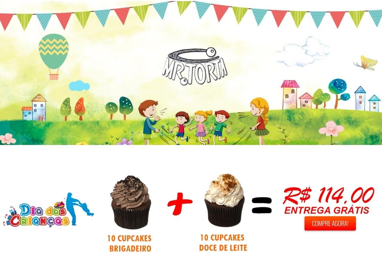 10 Cupcake Brigadeiro  +  10 Cupcake Doce de Leite