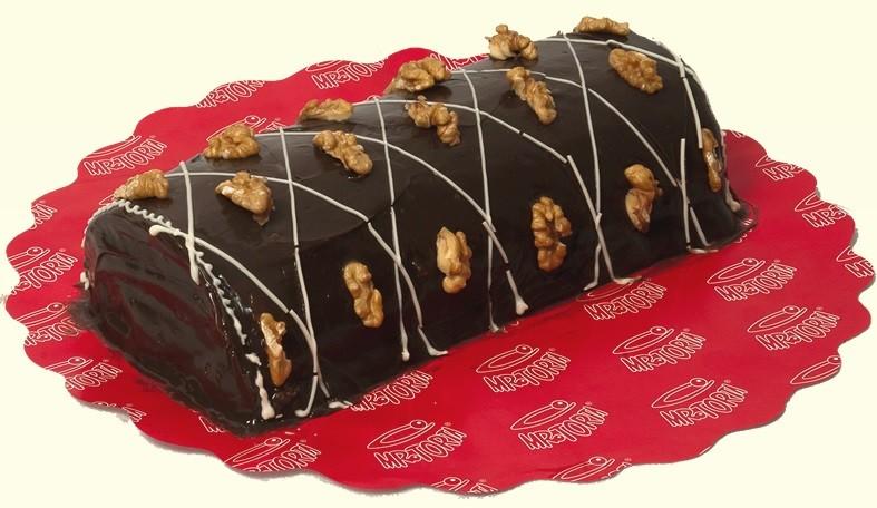 Rocambole de Nozes com Chocolate