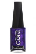 Esmalte Cora 9ml Black 11 Glitter Purple 88