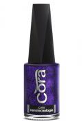 Esmalte Cora 9ml Black 11Glitter Purple 88