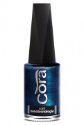 Esmalte Cora 9ml Black 12 Metal Blue