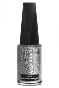 Esmalte Cora 9ml POP Glitter Prata Glitter