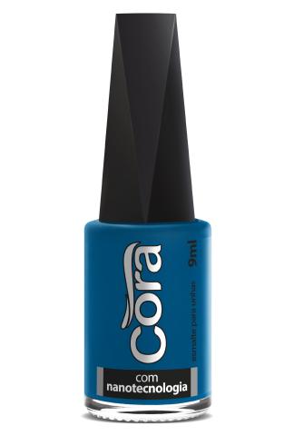 Esmalte Cora 9ml Black 10 Azul Super