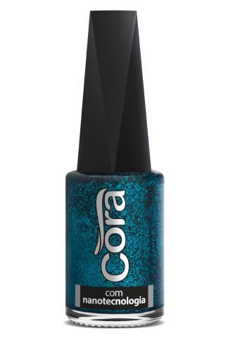 Esmalte Cora 9ml Black 11 Glitter Turquesa