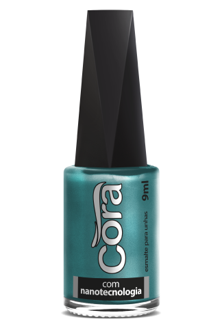 Esmalte Cora 9ml Black 11 Shine Green