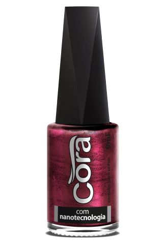 Esmalte Cora 9ml Black 12 Metal Red